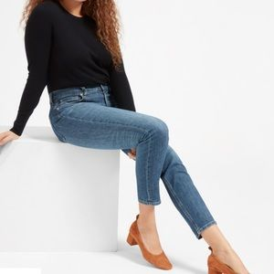 EVERLANE Mid Rise Skinny Jeans Blue 28
